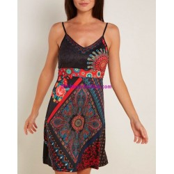 buy now dress tunic ethnic floral print summer 101 idées 879P clothes