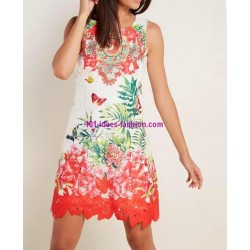 buy now dress tunic lace chic print 101 idées 1149P clothes for women