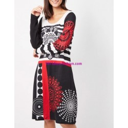 buy now dress tunic mandalas winter 101 idées 187Z clothes for women