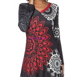 buy now dress ethnic tribal winter 101 idées 182Z clothes for women