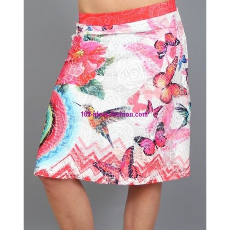 buy now skirt print floral 101 idees 307VRA clothes for women