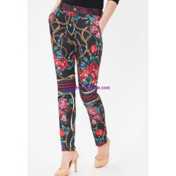 buy now pants print floral 101 idées 6216Z clothes for women
