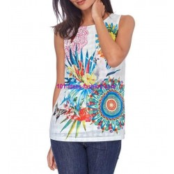 buy now T-shirt top floral ethnic 101 idées 1654P clothes for women