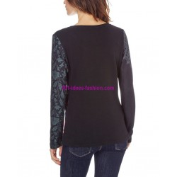 boho chic camiseta top invierno floral etnica 101 idées 0464Z ropa fashion