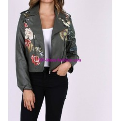 comprare giacca ecopelle perfecto stampato floreale etnico 101 IDEES
