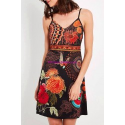 buy now dress tunic ethnic floral print summer 101 idées 657P clothes