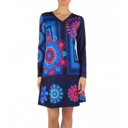 dress tunic print mid season 101 idées 403A french fashion