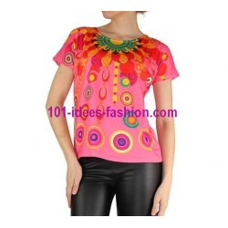 camiseta top verano marca 101 idees 905r