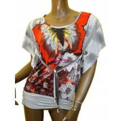 camiseta top verano marca 101 idees 3118v