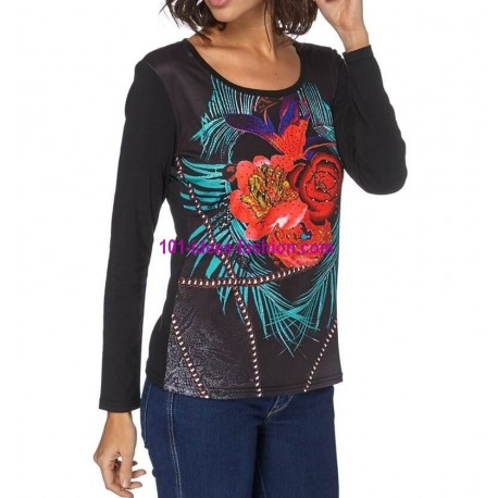 womens clothes online t shirts tops blouses mid season brand 101 idees 117in spanish style. Black Bedroom Furniture Sets. Home Design Ideas