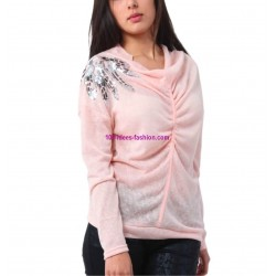 t-shirt camicette top invernali marca 101 idees 3238R