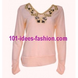 t-shirt top blusas inverno marca 101 idees 1671R