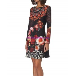 dress floral print winter 101 idées 011W