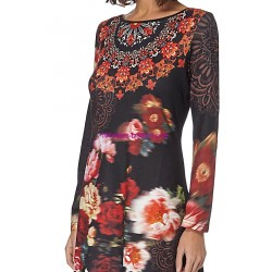 buy dress floral print winter 101 idées 011W online