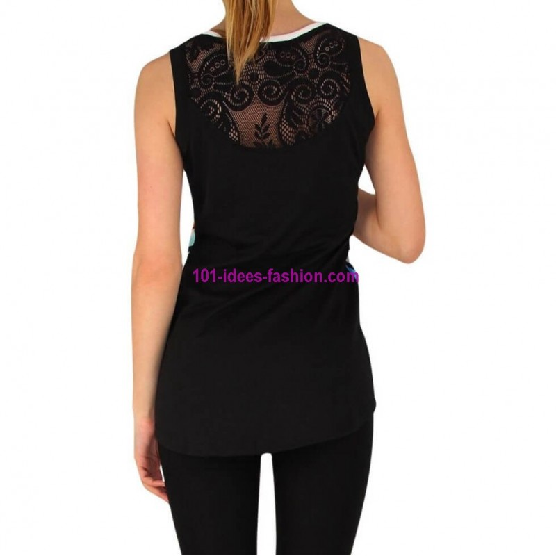 vetement femme fashion tshirt top haut t marque 101 idees 929 chic imprim e. Black Bedroom Furniture Sets. Home Design Ideas