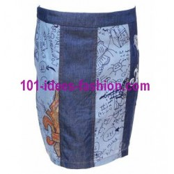 gonna leggings shorts 101 idées 8304 marca simile desigual