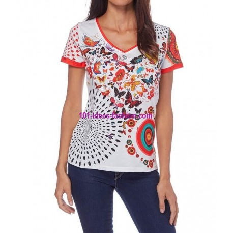 t shirt magliette top estive marca 101 idees 095br vendita italia