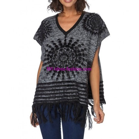 Sweater soft touch fringes 101 idées 8212W spanish style