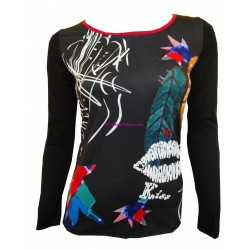 t-shirt top blusas inverno marca 101 idees 8407