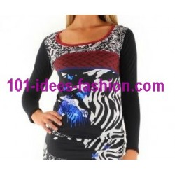 t-shirt top blusas inverno marca 101 idees 8386