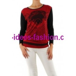 boho chic t-shirts tops blouses winter brand 101 idees 9021R clothes