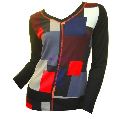 t-shirts tops blouses winter brand 101 idees 515 spanish style