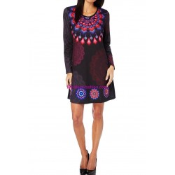 dress tunic print mid season 101 idées 405L