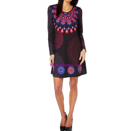 shop dress tunic print mid season 101 idées 405L outlet