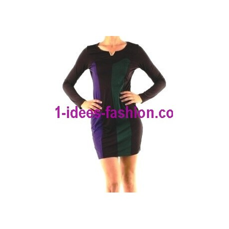 outlet vestidos tunicas inverno marca 101 idees 9001VRD