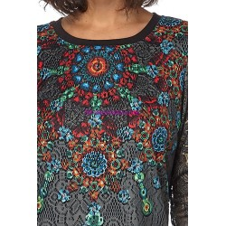 T-shirt top winter 101 idées 078W spanish style