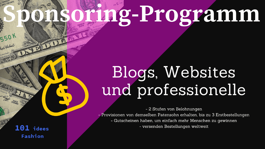 "101 idees ""Sponsoring-Programm für Blogs, Websites und professionelle"
